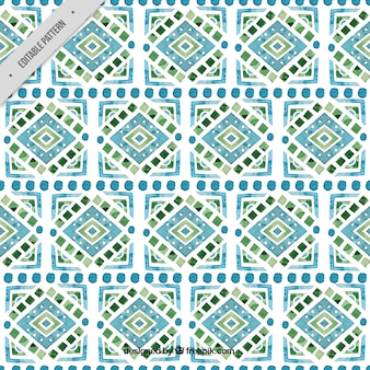 Patrón de acuarela con formas geométricas