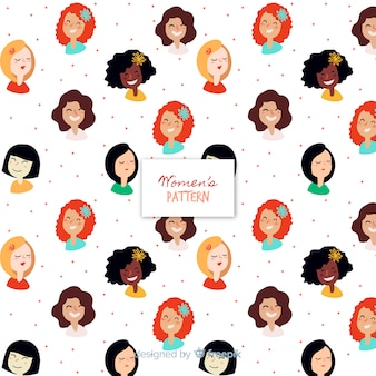 Patrón adorable de mujeres