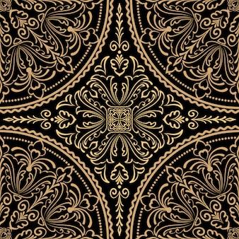 Patrón de adorno estilo zentangle