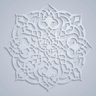 Patrón de adorno redondo árabe