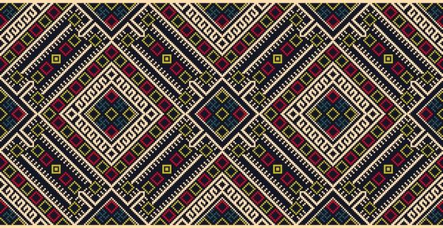 Patrón de adornos geométricos de estilo zentangle
