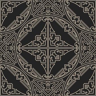 Patrón de adornos geométricos estilo zentangle