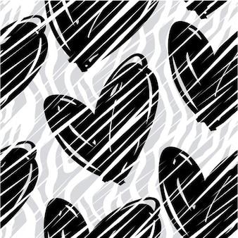 Patrón animal con corazones