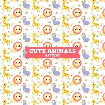 Patrón de animales collorful lindo