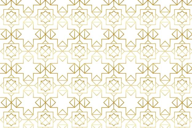 Patrón árabe dorado degradado