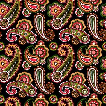 Patrón arabe con paisley
