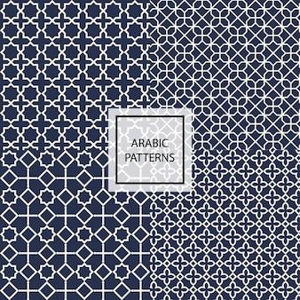 Patrón arábigo azul oscuro