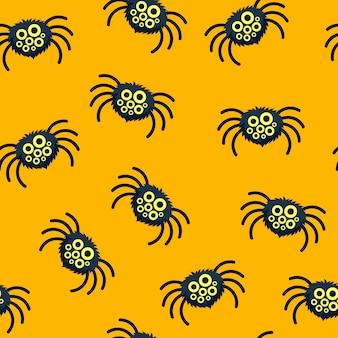 Patrón de arañas divertidas.