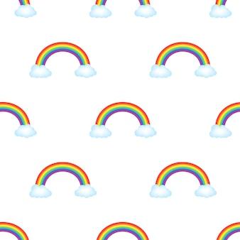 Patrón de arco iris. ilustración de stock vectorial.