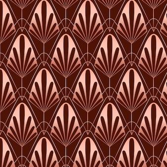 Patrón art deco de oro rosa sepia