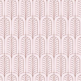 Patrón art deco de oro rosa