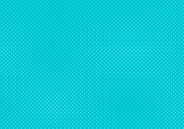 Patrón de arte pop. fondo cómico de semitono. textura turquesa con puntos. textura retro de dibujos animados