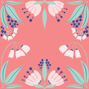 Patrón de arte popular escandinavo con pájaros y flores.
