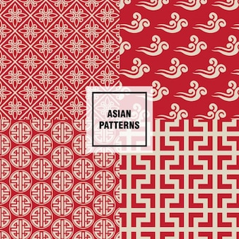 Patrón asiático de formas abstractas