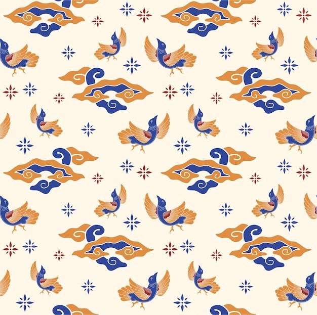 Patrón de aves bailando