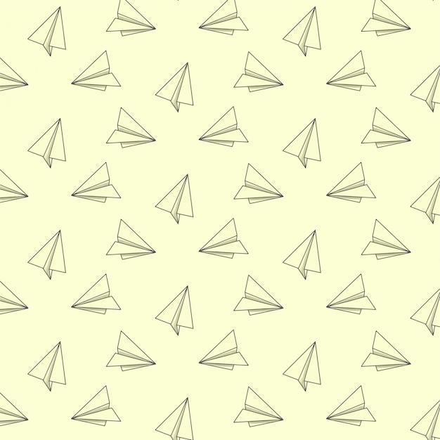 Patrón con aviones de papel