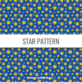 Patrón azul y amarillo de estrellas