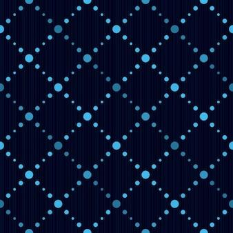 Patrón azul geométrico continuo con lunares