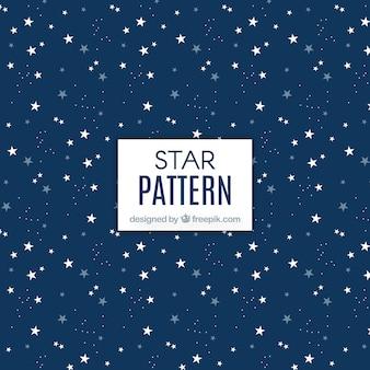 Patrón azul oscuro e estrellas
