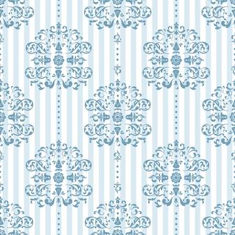 Patrón azul real y blanco
