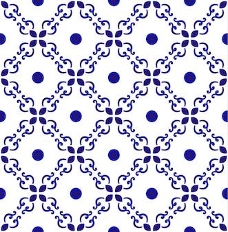 Patrón de azulejo inconsútil floral abstracto