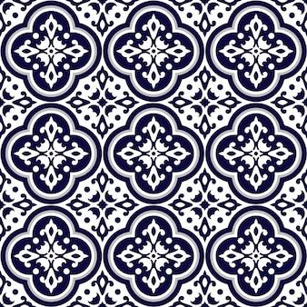 Patrón de azulejo inconsútil portugués