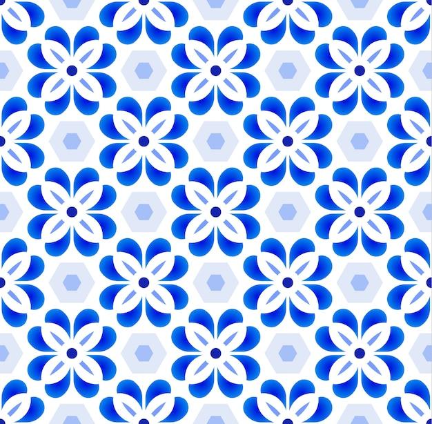 Patrón de azulejo lindo