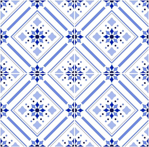 Patrón de azulejo de talavera