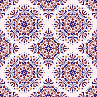 Patrón de azulejo vintage estilo turco