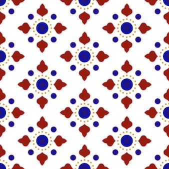 Patrón de azulejos de cerámica talavera mexicana.