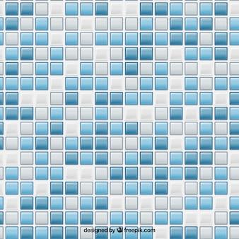 Patrón de azulejos cuadrados azules