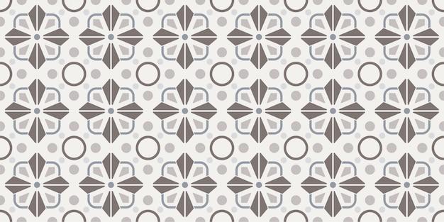 Patrón de azulejos geométricos decorativos