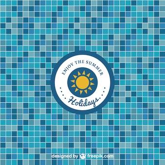 Patrón azulejos de piscina