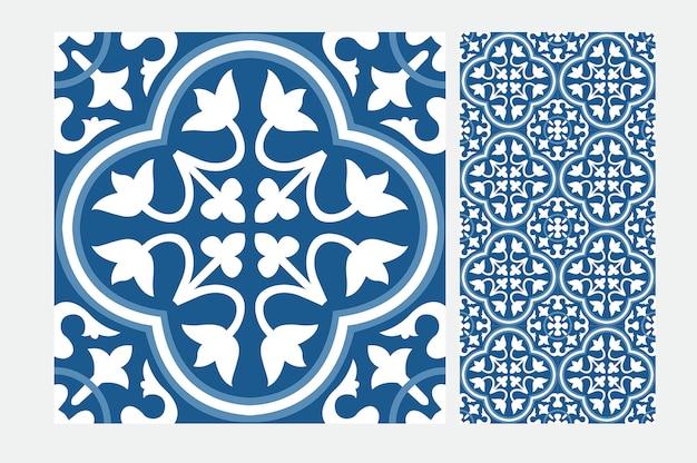 Patrón de azulejos vintage