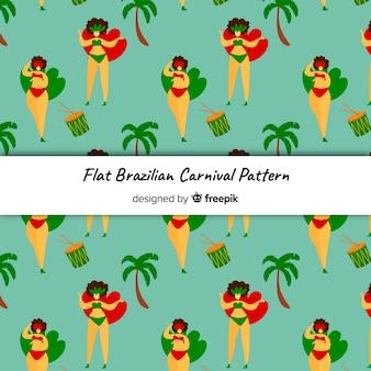 Patrón bailarina carnaval brasileño