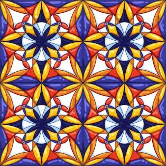 Patrón de baldosas de cerámica