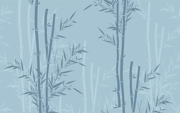 Patrón de bambú
