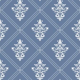 Patrón barroco sin fisuras. diseño de fondo plano de estilo vintage.