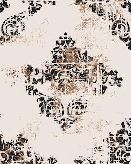 Patrón barroco de grunge de ventaja. textura de lujo real