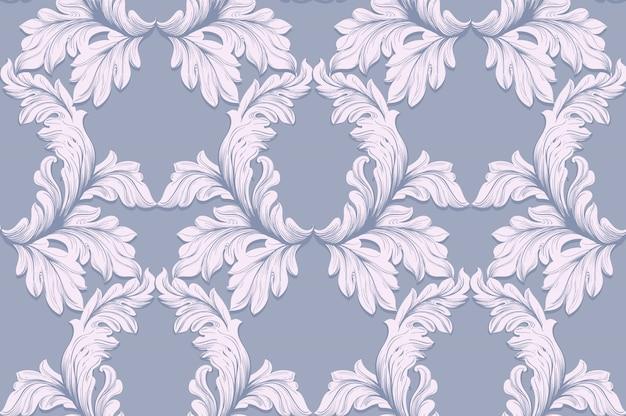 Patrón barroco para invitación, boda, tarjetas de felicitación. ilustración decoraciones de adornos hechos a mano