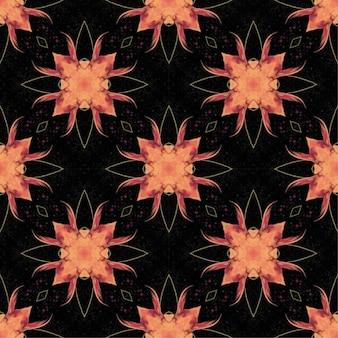 Patrón batik sin costuras, el batik indonesio es una técnica de tintura resistente a la cera que se aplica a toda la tela.