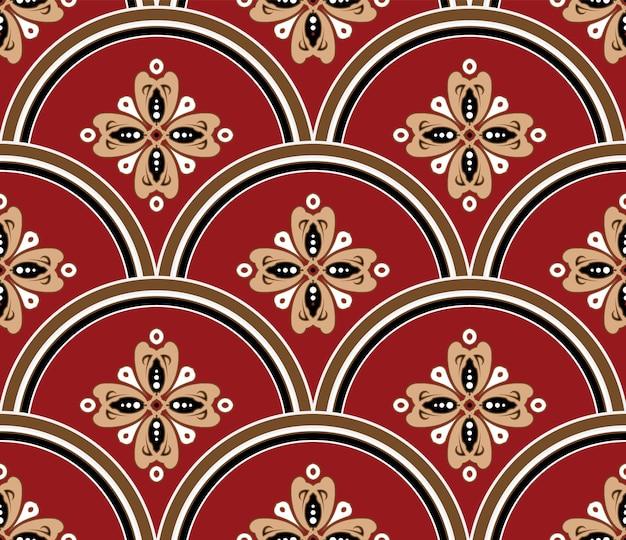 Patrón de batik floral