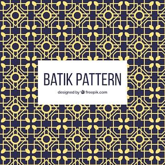 Patrón batik geométrico