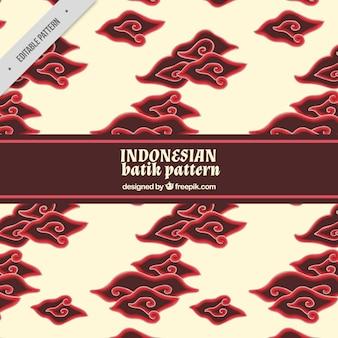 Patrón batik con nubes decorativas