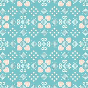 Patrón batik turquesa