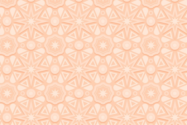 Patrón beige monocromático con formas