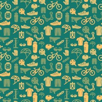 Patrón de bicicleta