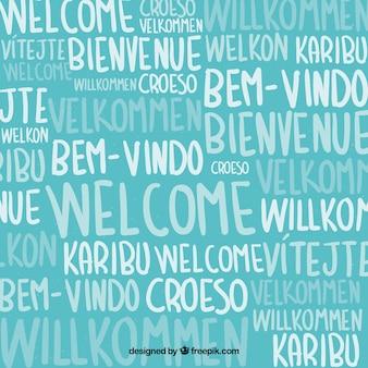 Patrón de bienvenidos en distintos idiomas