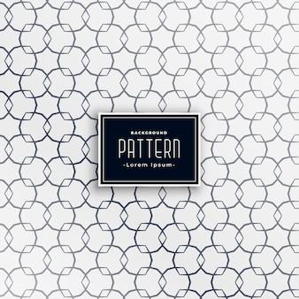 Patrón blanco y negro de forma geométrica abstracta