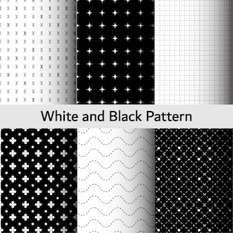 Patrón blanco y negro